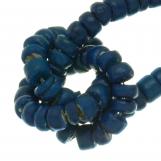 Perles Noix de Coco (4 - 5 mm) Deep water Blue (110 pièces)