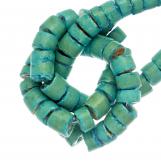 Perles Noix de Coco (4 - 5 mm) Turquoise (120 pièces)