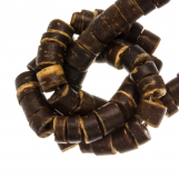 Perles Noix de Coco (4 - 5 mm) Natural Brown (120 pièces)