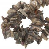 Perles Copeaux De Coquillage (14 - 6 mm) Brown (110 pièces)