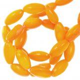 Perles Coquillage (11 x 5 mm) Orange (40 pièces)