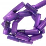 Perles Coquillage (10 x 4 mm) Violet (36 pièces)