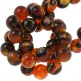 Perles En Résine (8 mm) Orange Brown (15 pièces)