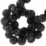 Perles En Verre Cat Eye (6 mm) Black (65 pièces)