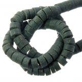 Perles en polymère (6 x 3 mm) Dark Sea Green (115 pièces)