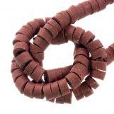 Perles en polymère (6 x 3 mm) Pale Rouge (115 pièces)