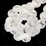 Perles Alphabet En Acrylique Mélange (10 x 6 mm) Zilver (170 pièces)