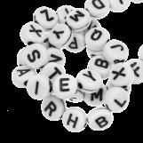 Perles Alphabet En Acrylique Mélange (7 x 4 mm) White (400 pièces)