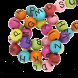 Perles Alphabet En Acrylique Mélange (7 x 8 mm) Mix Color (200 pièces)