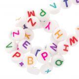Perles Alphabet En Acrylique Mélange (7 x 4 mm) Mix Color (350 pièces)