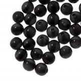 Perles en résine (6 mm) Black Shine (50 pièces)