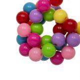 Perles En Acrylique (8 mm) Mix Rainbow (180 pièces)