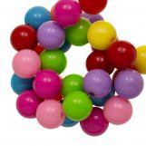 Perles En Acrylique (10 mm) Mix Rainbow (90 pièces)