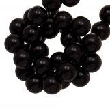 Perles En Acrylique (6.5 mm) Black (100 pièces)