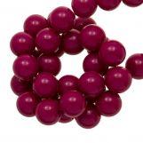 Perles En Acrylique (10 mm) Dark Fuchsia (90 pièces)