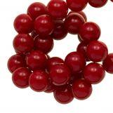 Perles En Acrylique (10 mm) Red (90 pièces)