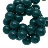 Perles En Acrylique (10 mm) Dark Teal (90 pièces)