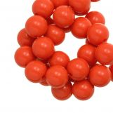 Perles En Acrylique (12 mm) Red Orange (54 pièces)