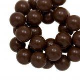 Perles En Acrylique (12 mm) Brown (54 pièces)