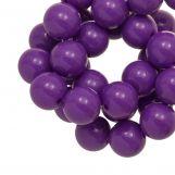 Perles En Acrylique (12 mm) Clear Purple (54 pièces)