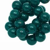 Perles En Acrylique (12 mm) Dark Teal (54 pièces)