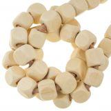 Perles En Bois Naturel Cube (10 mm) 50 pièces