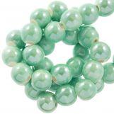 Perles en Céramique (6 mm) Mint Green (25 pièces)