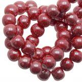 Perles en Céramique (8 mm) Red (25 pièces)