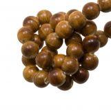 Perles en Céramique (6 mm) Marble Brown (15 pièces)