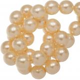 Perles en Verre Cirées DQ (8 mm) Tangerine Shine (75 pièces)