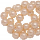 Perles en Verre Cirées DQ (4 mm) Tangerine Matt (110 pièces)