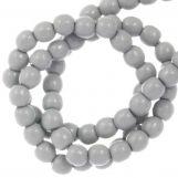 Perles en Verre Cirées DQ (2 mm) Grey Mist (150 pièces)