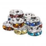 Rondelles Avec Strass (6 x 3 mm) Mix Color (10 pièces)