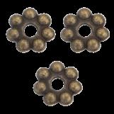 Perles En Métal (8 mm) Bronze (40 pièces)