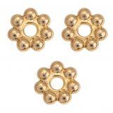 Perles En Métal (8 mm) Or (40 pièces)