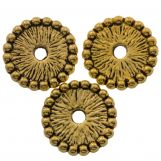 Perles En Métal (12 x 12 mm) Antique Or (15 pièces)