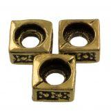 Perles En Métal  (5 x 5 mm) Antique Or (25 pièces)