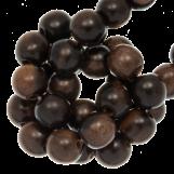 Perles en Bois (6 mm) Ebony (75 pièces)