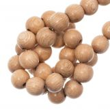 Perles en Bois (8 mm) Rosewood (52 pièces)