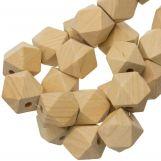 Perles En Bois Naturel Cube (19 mm) 25 pièces
