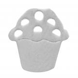 Acier inoxydable Breloque Petit gâteau (11 mm) Argent Antique (4 pièces)