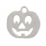 Acier inoxydable Breloque Citrouille (12 mm) Argent Antique (4 pièces)