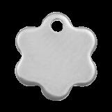 Acier inoxydable Breloque Fleur (9 x 8 mm) Argent Antique (20 pièces)