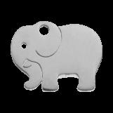 Acier inoxydable Breloque Éléphant (13 x 10 mm) Argent Antique (4 pièces)