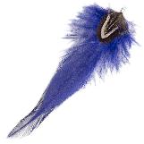 Plumes (12 cm) Boho Royal Blue (10 pièces)