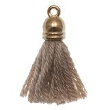 Pompon imitation (20 mm) Cedar / Or (5 pièces)