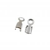 Connecteur Chaîne Strass (2.4 mm) Argent (20 pièces)