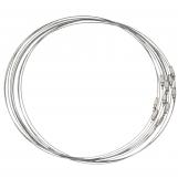 Collier Ras de Cou avec Fermoir de Vis (10 pièces) 50 cm (Silver)