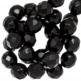 Perles Facettes Rondes DQ (Black) 6 mm (50 pièces)