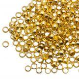 Perles à Écraser (Diamètre intérieur 1.2 mm) Or (730 pièces)